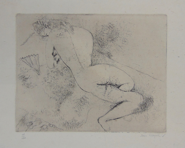 , 'Nude with a Fan | Nu à l'eventail,' 1924, Gilden's Art Gallery