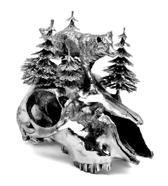 , 'Silverplated Sheep Skull,' 2012, Galleri S.E