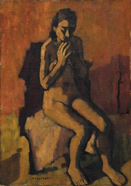 Felice Casorati, 'Female nude', executed in the '20-'30, Pandolfini