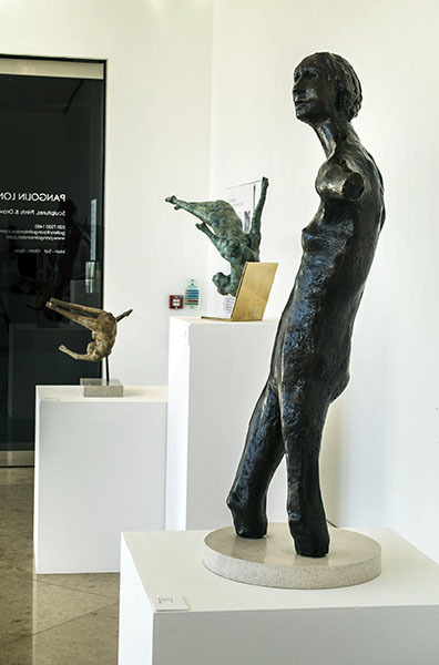 Ralph Brown, Vernal Figure (detail), 1957-6, Bronze, Edition of 6 in situ at Ralph Brown & the Figure in the Fifties and Sixties, Pangolin London, 2016