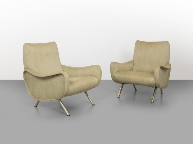 Marco Zanuso, 'Two 'Lady' armchairs', 1951, Design/Decorative Art, Steel structure and legs  foam rubber on elastic straps and fabric upholstery., Aste Boetto