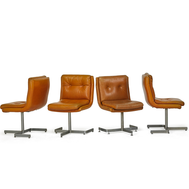 Unknown French, 'Four Side Chairs,', 1970s, Rago/Wright