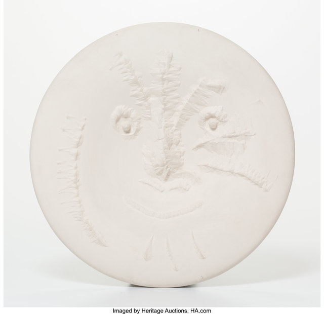 Pablo Picasso, 'Visage en gros relief', 1963, Other, White earthenware ceramic, Heritage Auctions