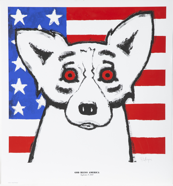 George Rodrigue, 'God Bless America Fundraising piece for 9/11 and Katrina', 2011, Modern Artifact