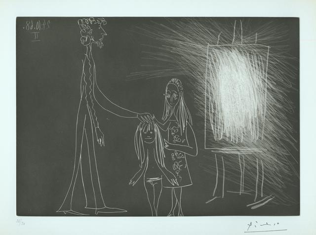 Pablo Picasso, 'Piero Crommelynck avec sa femme et sa fille, dans l'atelier II', 1968, Armstrong Fine Art
