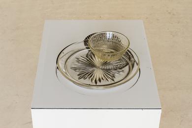 Sinta Werner, 'Verschattungen zweiten Grades I', 2014, Sculpture, Photography, glass plate, glass bowl, light, Neue Berliner Räume