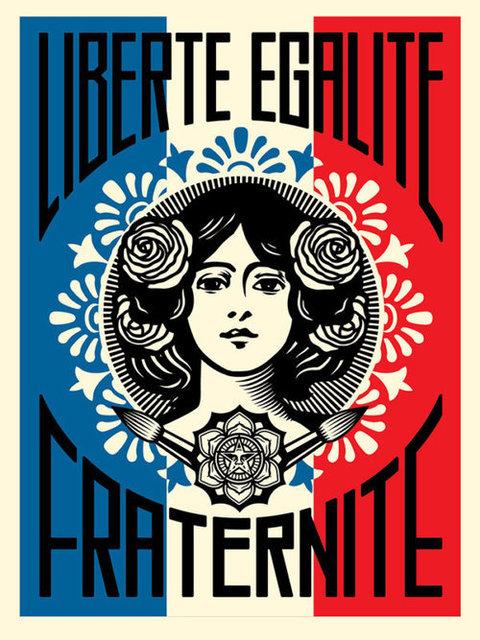 Shepard Fairey (OBEY), 'Liberté, égalité, fraternité', 2016, Dope! Gallery