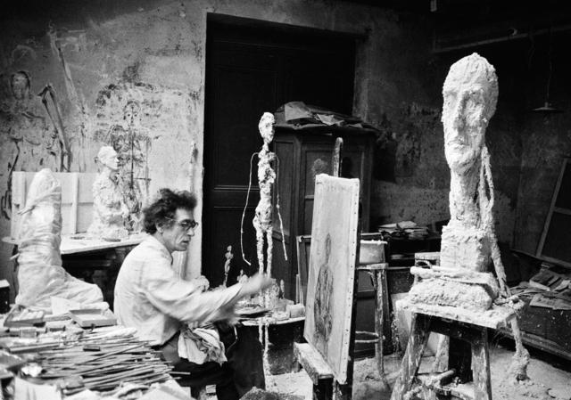 , 'Alberto Giacometti at work in his atelier, Paris,' ca. 1957, Suite 59 Gallery