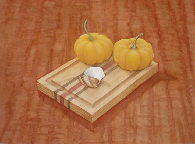 , 'Gourds on a Board,' 2012, InLiquid