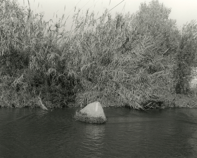 Mark Ruwedel, 'LA River/Glendale Narrows #16', 2015, Photography, Gelatin silver print dry-mounted to archival board, Gallery Luisotti