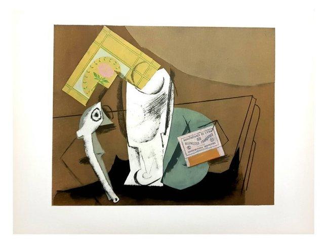 """Pablo Picasso, 'Pochoir """"StillLife Cubist"""" after Pablo Picasso', 1962, Galerie Philia"""