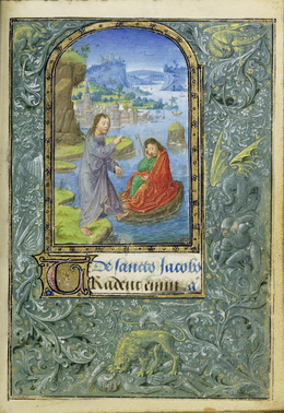 Lievan van Lathem, 'Christ Appearing to Saint James the Greater', 1469, J. Paul Getty Museum