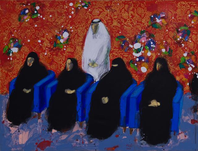 , 'A man and four women / رجل و اربع نساء ,' 2017, al markhiya gallery