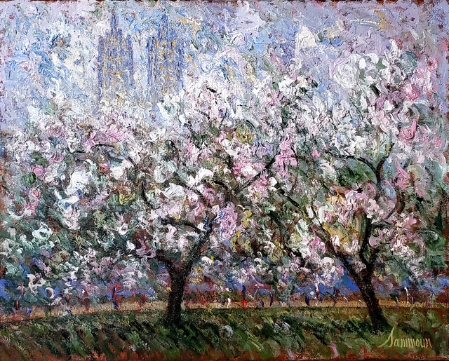 Samir Sammoun, 'Le printemps, Central Park', 2020, Painting, Oil on Canvas, Galerie d'Orsay