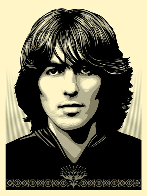 Shepard Fairey, 'Poster For George ', 2014, Print, Cream Speckletone, New Union Gallery
