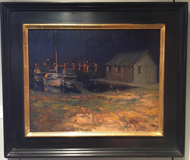 Carl Bretzke, 'Fishing Shack at Night, Grand Marais', 2015, Painting, Oil, Grenning Gallery