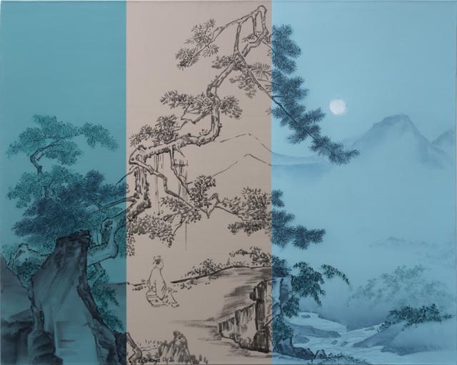 , 'Look at moon under the pine,' 2018, Primo Marella Gallery