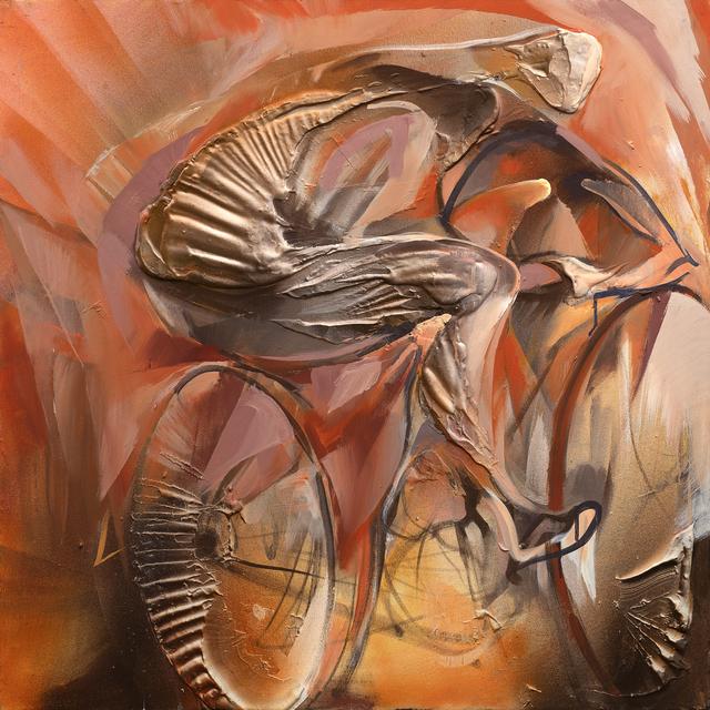 , 'Cyclist,' 2017, Galleria Quadrifoglio