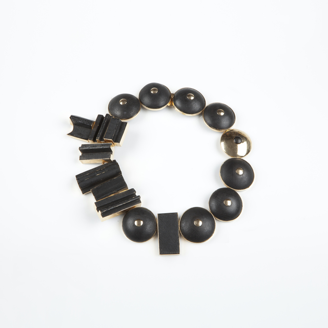 , 'Black painted wood and gold necklace,' ca. 1965, Didier Ltd.