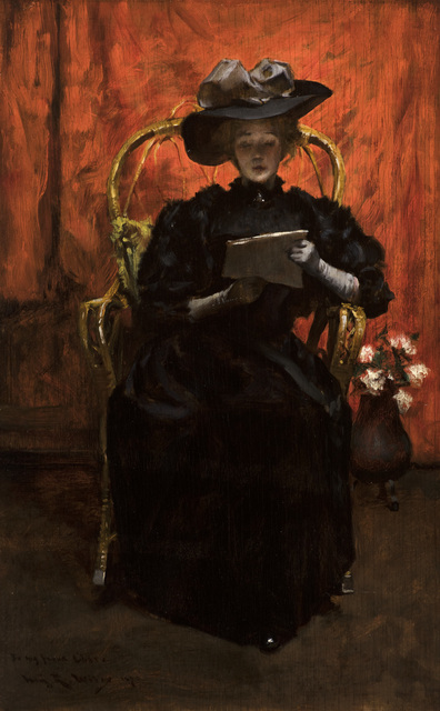 , 'Lady in Black: The Red Room,' 1890, Godel & Co.
