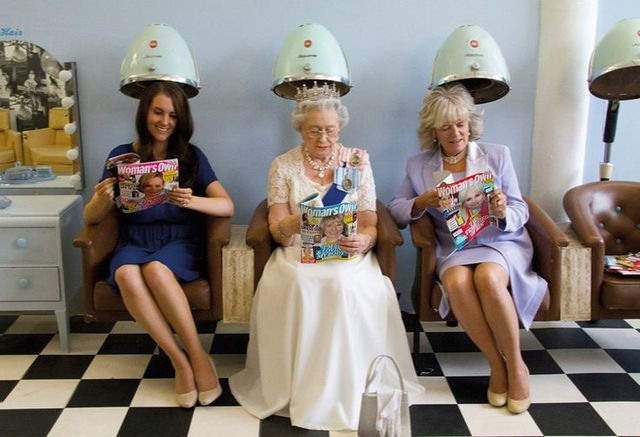 , 'Queen, Camilla and Kate at Hair Salon,' 2011, Raffaella De Chirico