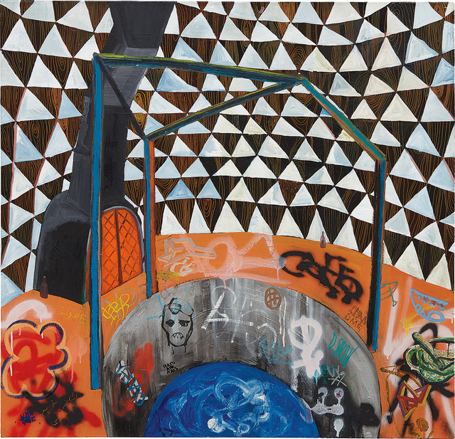Shara Hughes, 'Water Tower', 2007, Painting, Oil on canvas, Phillips