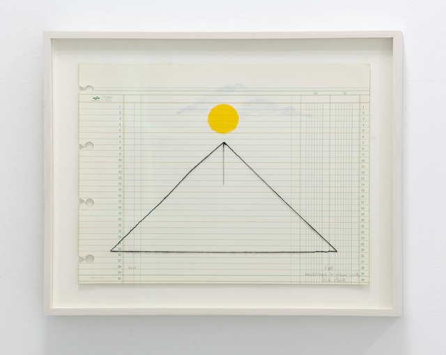 , 'Landscape in yellow with needle, #7,' 2016, Travesia Cuatro