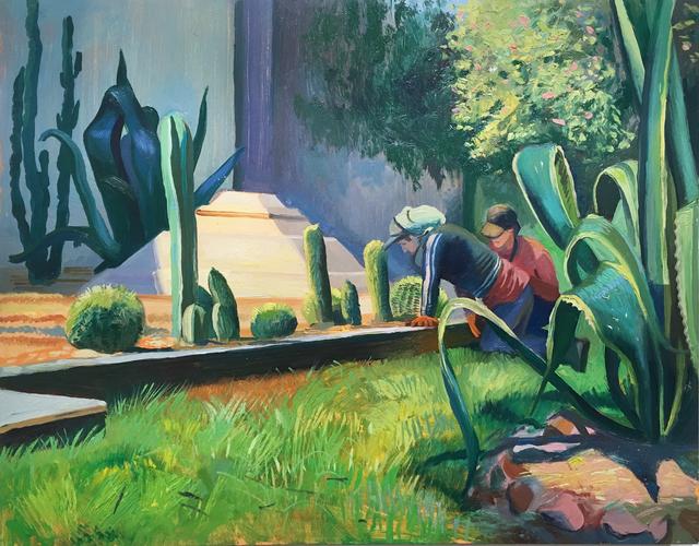Thomas John Carlson, 'Mexico City 1', 2018, Painting, Oil on panel, Deep Space Gallery
