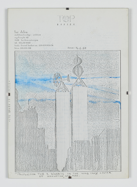 , 'Proposals for Windturbines on the WTC,' 1980, Tatjana Pieters