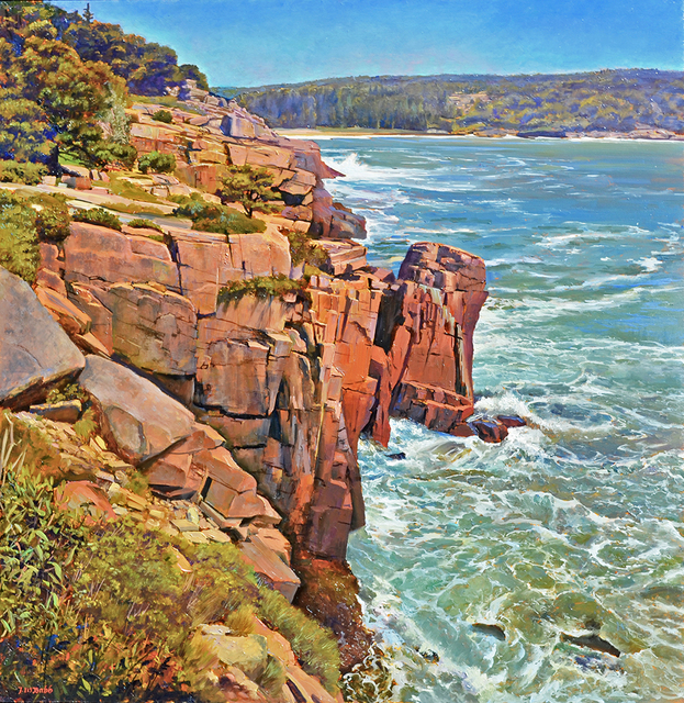 , 'Storm Surge and Stone Cliffs, Near Sand Beach Mount Desert,' 2016, Greenhut Galleries