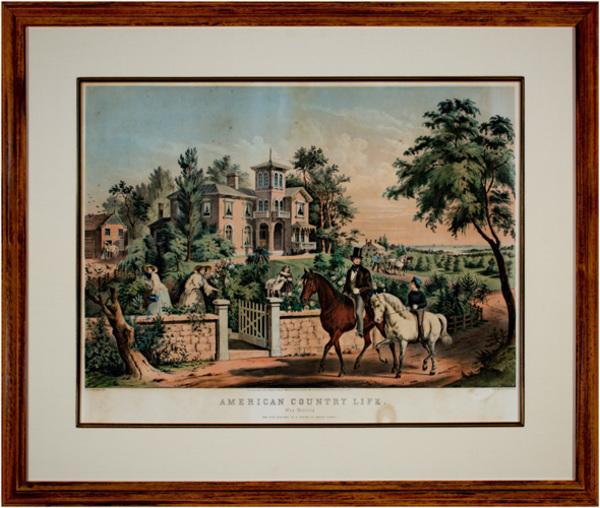 , 'American Country Life--May Morning Fanny Palmer - artist,' 1855, David Barnett Gallery