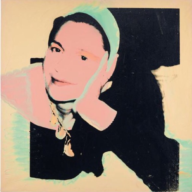 Andy Warhol, 'Portrait of Marie-Louise Jeanneret', 1974, Print, Acrylic and silkscreen ink on linen, Rudolf Budja Gallery