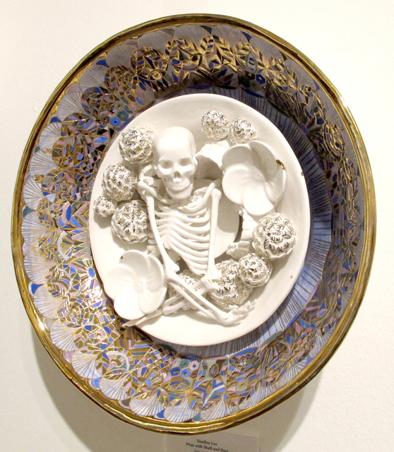 , 'The Skull and Flowers on a plate,' 2016, DECORAZONgallery