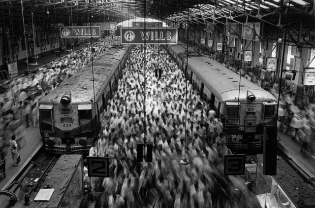 , 'CHURCH GATE STATION, BOMBAY, INDIA,' 1995, Huxley-Parlour