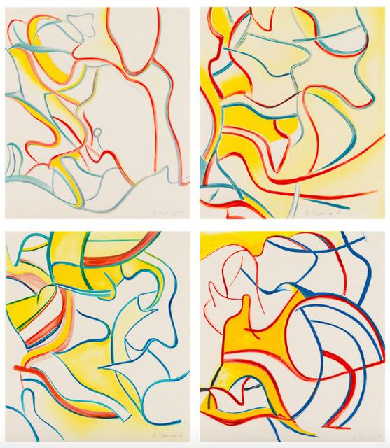 Willem de Kooning, 'Quatre Lithographies', 1986, Upsilon Gallery