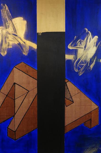 , 'Azul Preto Dourado,' 2015, Mercedes Viegas Arte Contemporânea