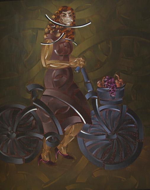 , 'Bisikletli Kız I,' 2013, Anna Laudel