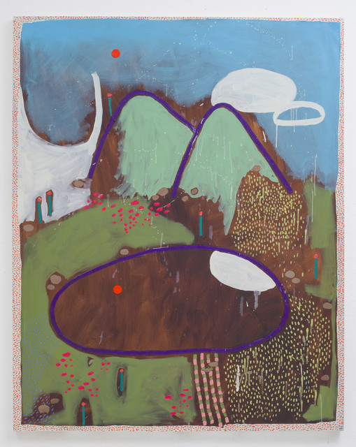 , 'Mountain and Lake,' 2015, Pippy Houldsworth Gallery