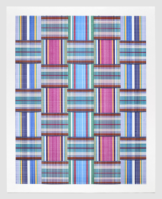 Carly Glovinski, 'Leisure Weave 7', 2017, Morgan Lehman Gallery