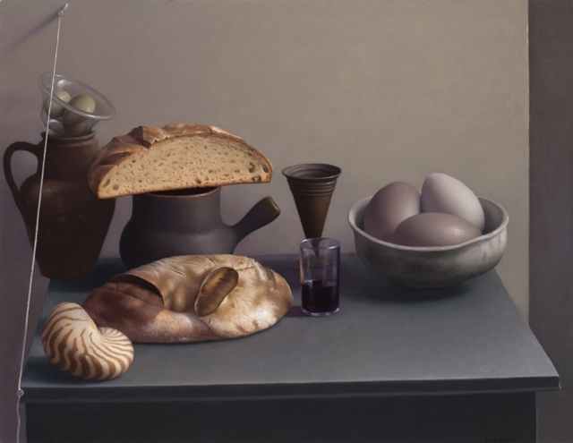 , 'Still Life with Bread, Shell and Eggs,' 2016, Clark Gallery