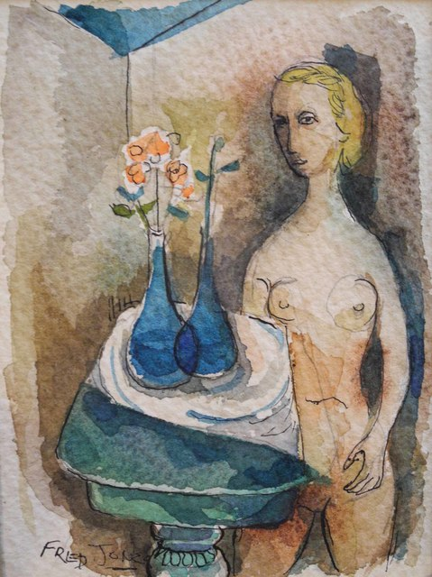 , 'Nude at Table,' ca. 1950, Bill Hodges Gallery