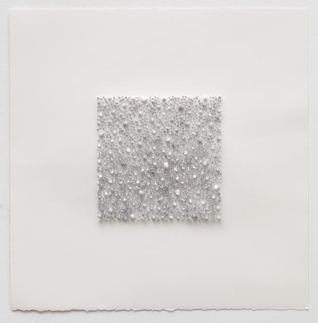 , 'Grey square 02 (Red Rose),' 2017, Anne Mosseri-Marlio Galerie