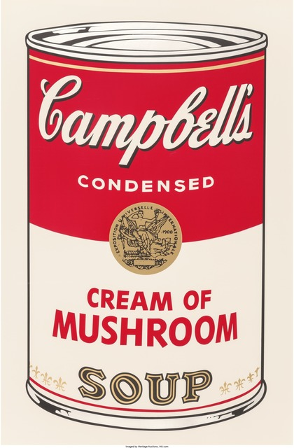 Andy Warhol, 'Cream of Mushroom, from the Campbell's Soup I portfolio', 1968, Print, Screenprint in colors, Heritage Auctions