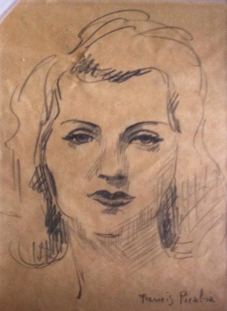Francis Picabia, 'Visage de femme', 1940-1943, Galerie Sophie Scheidecker