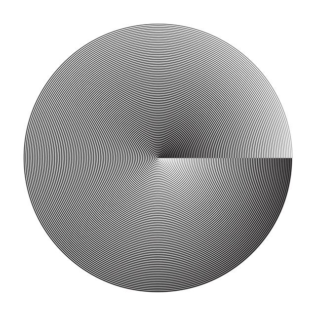 Marina Apollonio, 'Fusione Circolare Doppia', 2019, Painting, Enamel on wood, Espace Meyer Zafra