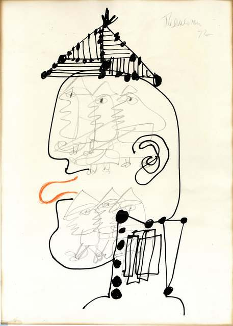 , 'Head of Ubu, Copenhagen,' 1972, Richard Saltoun