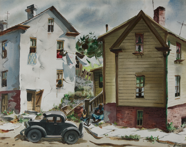 , 'City Street with House,' , Questroyal Fine Art