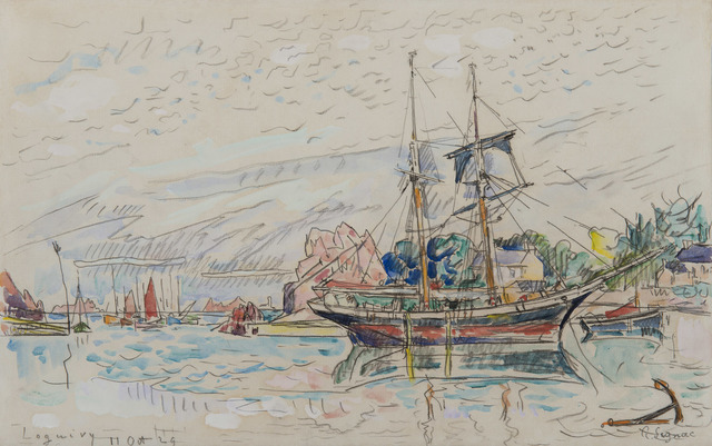 Paul Signac, 'Loguivy', 1929, Drawing, Collage or other Work on Paper, Watercolor and pencil on paper, HELENE BAILLY GALLERY