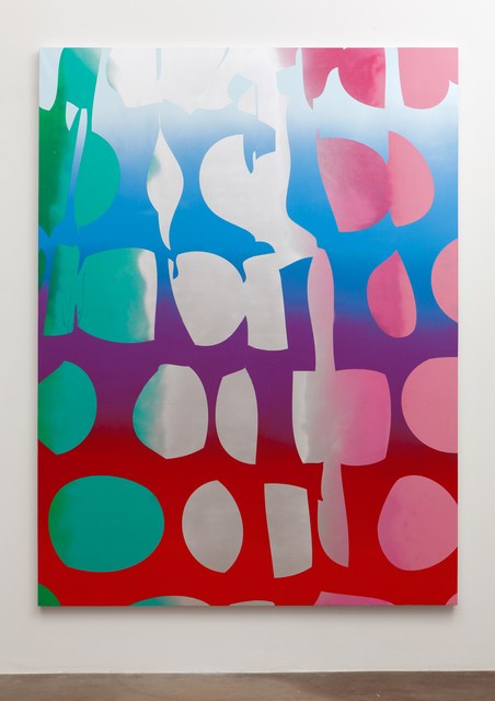 , 'Giant Dots (Bomb Pop, silver, green, pink),' 2015, Erin Cluley Gallery