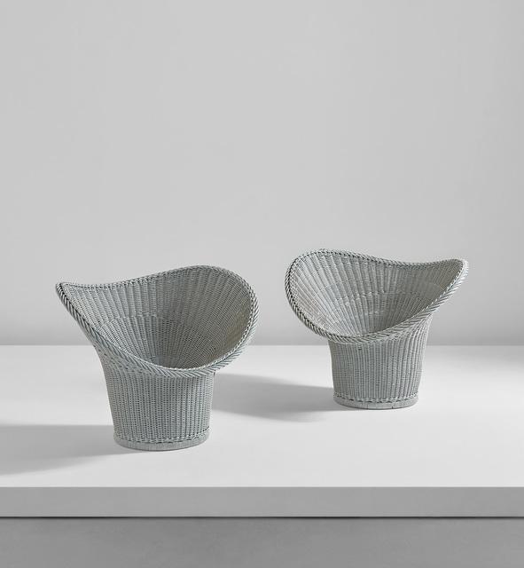 """Egon Eiermann, 'Rare pair of """"Korbsessel"""" chairs, model no. E20', circa 1958, Phillips"""